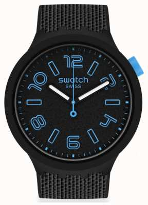 Swatch DEEP CONCRETE | Big Bold | Black Silicone Strap | Black Dial SO27B118