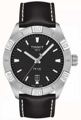 Tissot PR100 Sport | Black Dial | Black Leather Strap T1016101605100