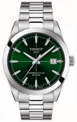 Tissot | Gentlemen Automatic | Powermatic 80 | Stainless Steel Bracelet | Green Dial | T1274071109101