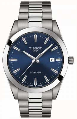 Tissot Gentlemen Titanium | Grey/Silver Titanium Bracelet | Blue Dial T1274104404100
