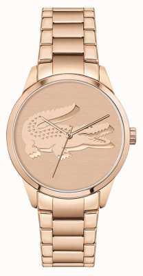 Lacoste Ladycroc   Women's Rose Gold Steel Bracelet   Rose Gold Dial 2001172