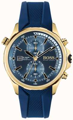 BOSS | Globetrotter | Chronograph | Blue Dial | Blue Silicone Strap | 1513822