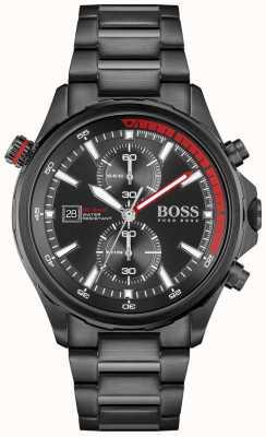 BOSS Globetrotter | Chronograph | Black Dial | Black PVD Steel Bracelet 1513825