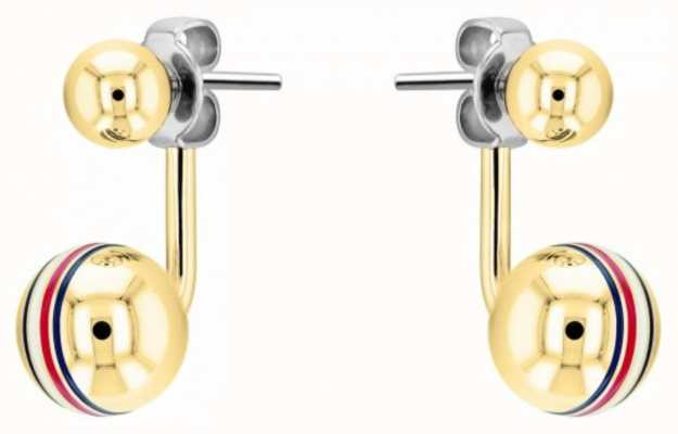 Tommy Hilfiger Women's Gold Plated Orb Stud Earrings 2780497