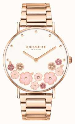 Coach Perry | Women's Rose Gold Steel Bracelet | Floral Dial 14503768