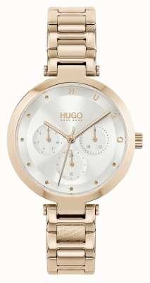 HUGO #HOPE Multi | Women's Rose Gold Tone Steel Bracelet | Silver Dial 1540087