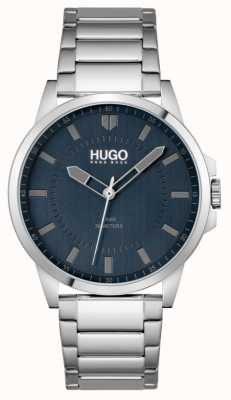 HUGO #FIRST | Men's Stainless Steel Bracelet | Blue Dial 1530186