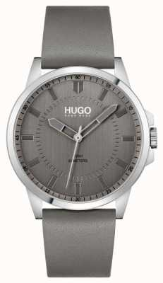 HUGO #First | Men's Grey Leather Strap | Grey Dial 1530185