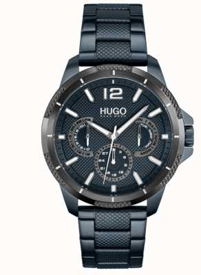 HUGO #Sport | Men's Blue IP Steel Bracelet | Blue Dial 1530194