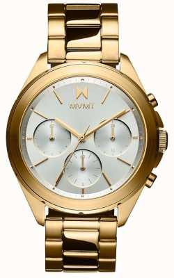MVMT Getaway | Women's Gold Plated Steel Bracelet | Silver Dial 28000128-D