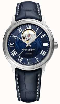 Raymond Weil Maestro | Men's Blue Leather Strap | Blue Dial 2227-STC-00508