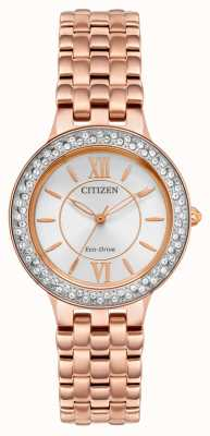 Citizen Women's Eco-Drive Rose Gold Bracelet FE2088-54A