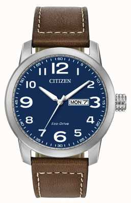 Citizen Men's Eco-Drive Brown Leather Strap WR100 BM8471-19L