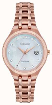 Citizen Women's Eco-Drive Diamond Dial EW2489-54D