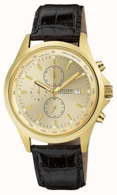 Citizen Gold Plated Quartz Chronograph AN3512-03P