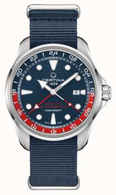 Certina DS Action GMT | Blue Fabric Strap | Blue Dial | Automatic C0324291804100