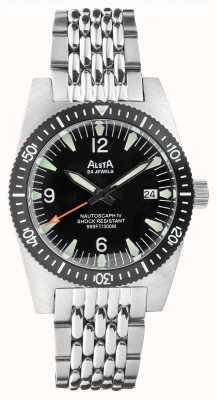 Alsta NAUTOSCAPH IV | Automatic | Black Dial | Stainless Steel Bracelet NAUTOSCAPH IV