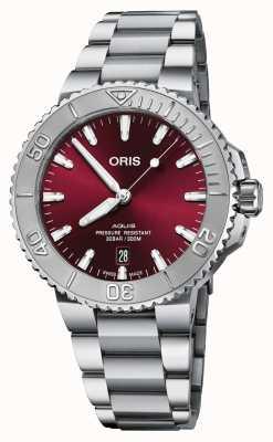 ORIS Aquis Date Cherry Edition Stainless Steel Bracelet 01 733 7766 4158 8 22 05 PEB