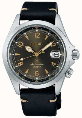 Seiko Alpinist Sunbeam Forest | Black Leather Strap SPB209J1