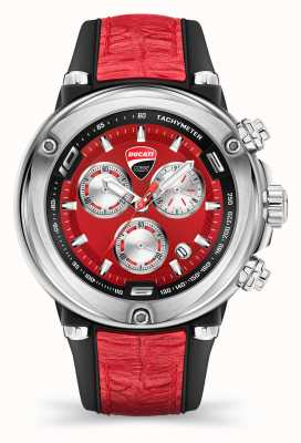 Ducati DT001 | Chronograph | Red Dial | Red Silicone Strap DU0064-CCH.A04