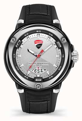 Ducati DT001 | Silver Dial | Black Silicone Strap DTWGN2018902
