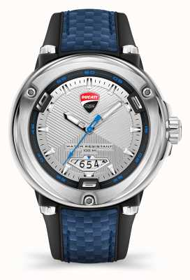 Ducati DT001 | Silver Dial | Blue Silicone Strap DTWGN2018905