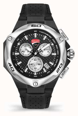 Ducati DT002 | Chronograph | Black Dial | Black Leather Strap DU0065-CCH.A01