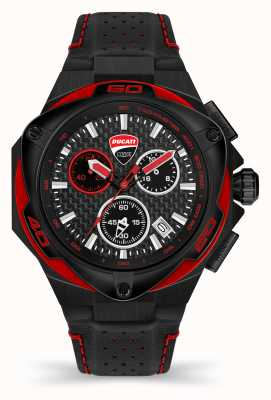 Ducati DT002 | Chronograph | Black Dial | Black Leather Strap DU0065-ECH.A04