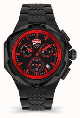 Ducati DT002 | Chronograph | Black Dial | Black PVD Steel Bracelet DTWGI2019006