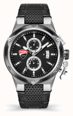 Ducati DT003 | Chronograph | Black Dial | Black Leather Strap DU0066-CCH.B01