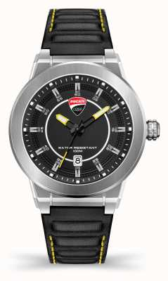 Ducati DT004 | Black Dial | Black Leather Strap DU0068-3HC.A03