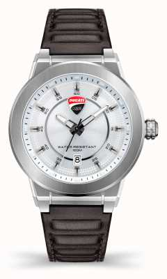 Ducati DT004 | Silver Dial | Dark Brown Leather Strap DU0068-3HC.A04