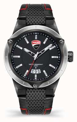 Ducati DT006 | Black Dial | Black Leather Strap DU0072-3HC.C02