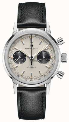 Hamilton IntraMatic - Mechanical Chronograph | Black Leather Strap | White Dial H38429710