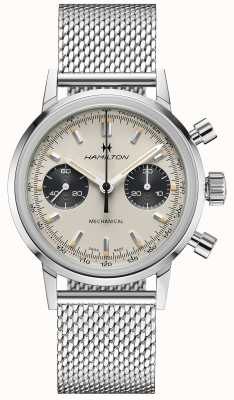 Hamilton IntraMatic - Mechanical Chronograph | Silver Mesh Strap | White Dial H38429110