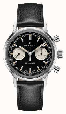 Hamilton IntraMatic | Mechanical | Chronograph | Black Dial | Black Leather Strap H38429730