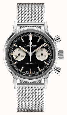 Hamilton IntraMatic | Chronograph Black Dial | Steel Mesh Bracelet H38429130