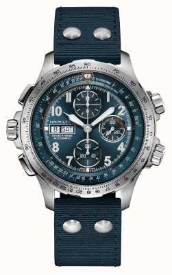 Hamilton Khaki Aviation X-Wind | Automatic | Chronograph | Blue Dial H77906940