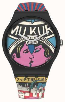 Swatch MoMA   THE CITY AND DESIGN, THE WONDERS OF LIFE   Multi- Coloured Silicone Strap SUOZ334