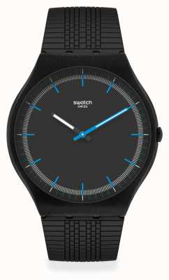 Swatch SUCCESS ROAD | Black Silicone Strap | Black Dial SS07B103