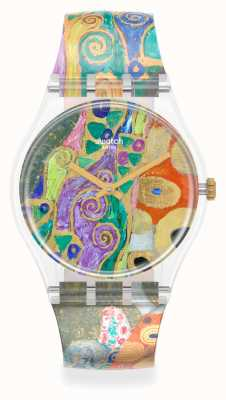 Swatch MoMA   HOPE, II BY GUSTAV KLIMT, THE WATCH   Multi-Coloured Silicone Strap GZ349