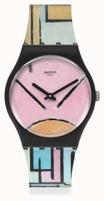 Swatch MoMA | COMPOSITION IN OVAL WITH COLOR PLANES 1 GZ350