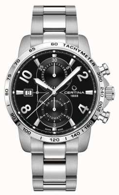 Certina DS Podium Chrono | Stainless Steel Bracelet | Black Dial C0344271105700