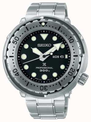 Seiko Prospex | Tuna | 300m | Stainless Steel Bracelet | Black Dial S23633J1
