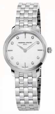 Frederique Constant Women's Slimline Diamond Dial | Stainless Steel Bracelet FC-200STDS26B