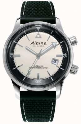 Alpina Men's Seastrong Diver Heritage | Black Silicone Strap | White Dial AL-525S4H6