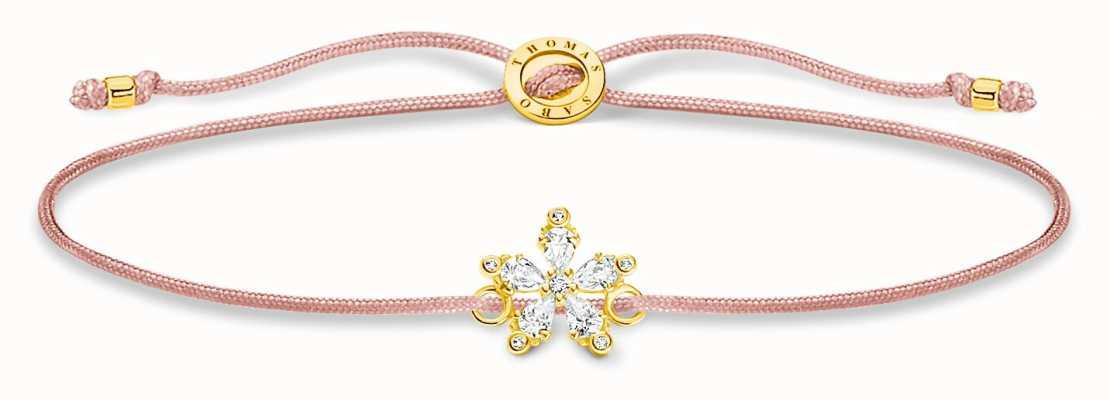 Thomas Sabo Little Secrets | Pink Nylon Bracelet | Flower Charm LS119-379-19-L20V