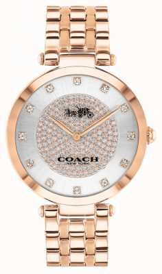 Coach Women's Park | Rose Gold Plated Steel Bracelet | White Dial 14503735