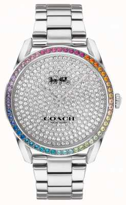 Coach Women's Preston | Stainless Steel Silver Bracelet | Crystal Set Dial 14503658