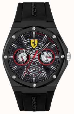 Scuderia Ferrari Aspire | Black Silicone Strap | Black Dial 0830785